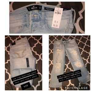 Skinny jeans (Hollister and Abercrombie and Fitch)